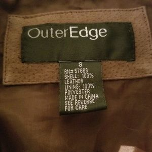 Outer edge leather jacket